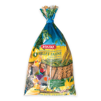 Golden millet sprays for birds. Place millet in your bird's cage. Food supplement that does not cover complete nutritional requirements. To keep your birds healthy, give them a varied, well-balanced diet.