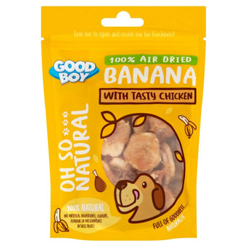 GOODBOY OH SO... NATURAL BANANA WITH TASTY CHICKEN 85G