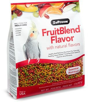 Recommended for Cockatiels, Quaker Parakeets, Ringneck Parakeets, Lovebirds, Meyer's Parrots and other medium parrots