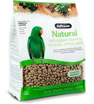 Recommended for Conures, Amazons, Greys, Pionus, Caiques, Senegals and other medium to large parrots