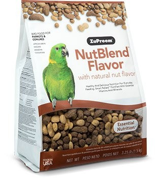 Premium daily bird food for Amazons, Greys, Senegals, Macaws, Conures, Cockatoos and other medium and large parrots
