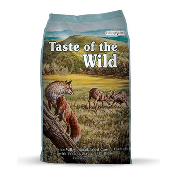 Highly digestible venison protein and small kibble size make this formula easy on your small breed dog's tummy and teeth.
