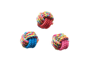 Tough interactive high quality fetch, tug, and chew toy. Durable rubber and cotton rope in reflective color. Ideal for games of fetch and tug. Dual materials for added interest for your pet. Assorted colous, only one supplied.