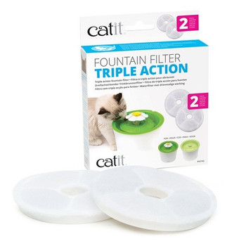 The Catit Triple Action Fountain Filters are not designed to cure any disease or illness, however these filters do help remove bacteria and chlorine odors and filter out debris. The filters help soften the minerals like magnesium and calcium in the tap water to help prevent urinary tract diseases.