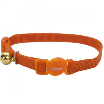 "Our Safe Cat Cat Collar with adjustable, snag-proof nylon and breakaway buckle is designed to release if a cat's collar gets caught.This collar is adjustable from 8"" to 12"". Do not use with leash or tie-out."