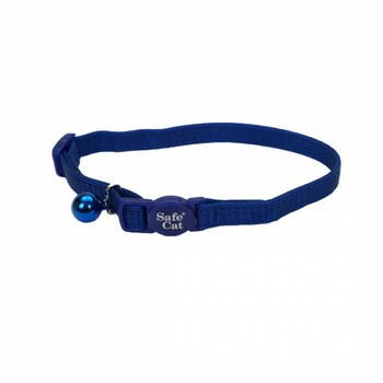 """Our Safe Cat Cat Collar with adjustable, snag-proof nylon and breakaway buckle is designed to release if a cat's collar gets caught.This collar is adjustable from 8"""" to 12"""". Do not use with leash or tie-out."""