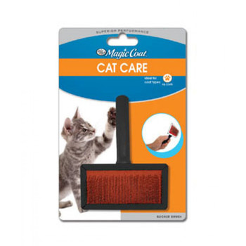 Our Tender Touch Slicker Wire Brush is designed specially for cats to eliminate all unwanted hair with a gentle, tender touch.