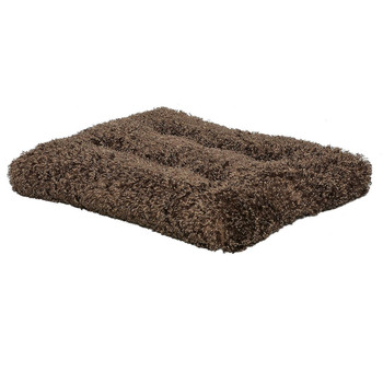Plush, Ultra-Soft Synthetic Fur - You've Gotta Feel It!  Tufted, Overstuffed Polyfiber Cushion  Non-Skid Bottom Surface  Completely Machine Washable  Keeps Pets Cool in the Summer, Warm in the Winter  Available in 5 Sizes  Great for use in Carriers, Vehicles, Crates and more!