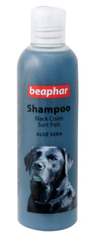 Specially formulated dog shampoo for all black and dark haired coats
