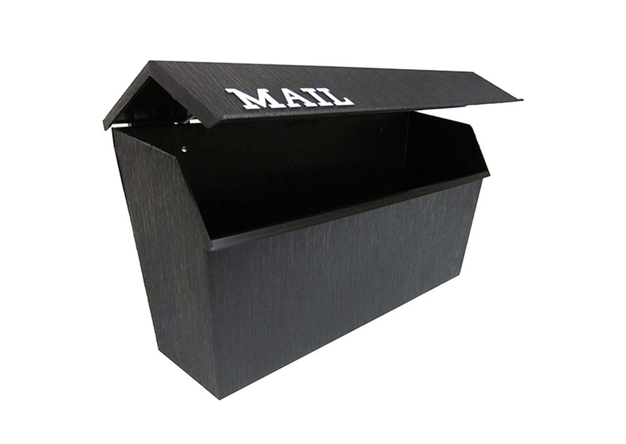 Picture of: Horizontal Poly Wall Mount Mailbox