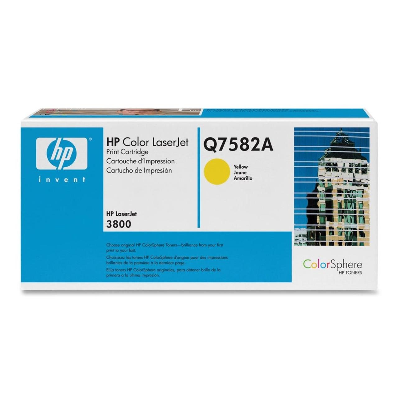 HP 3800 Yellow Toner Cartridge - New