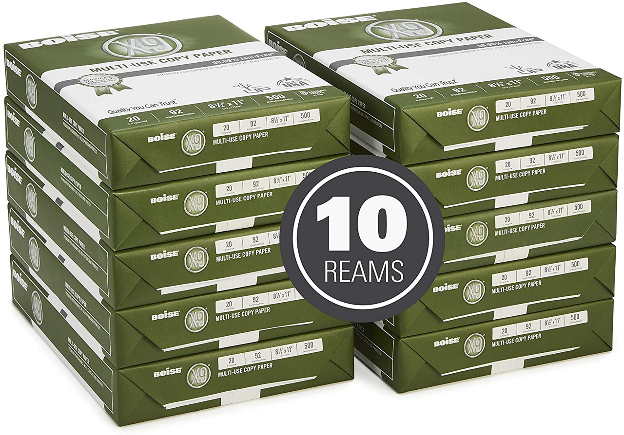 Case Of 10 Reams of Boise® X-9® Multi-Use Copy Letter Size Paper