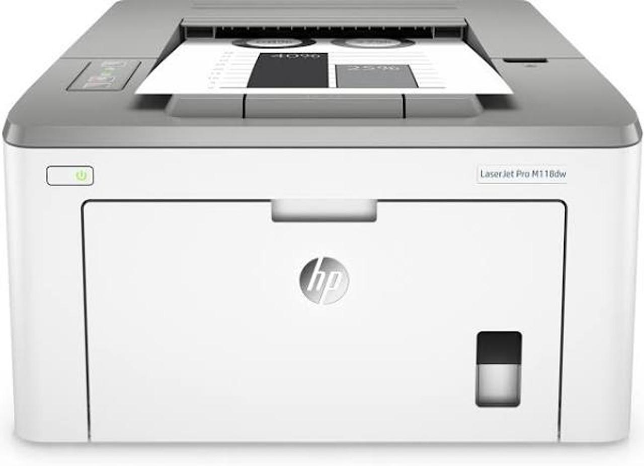 HP LaserJet Pro M118dw Wireless Monochrome Laser Printer With Duplex, Mobile Printing & Built-In Ethernet, 4PA39A