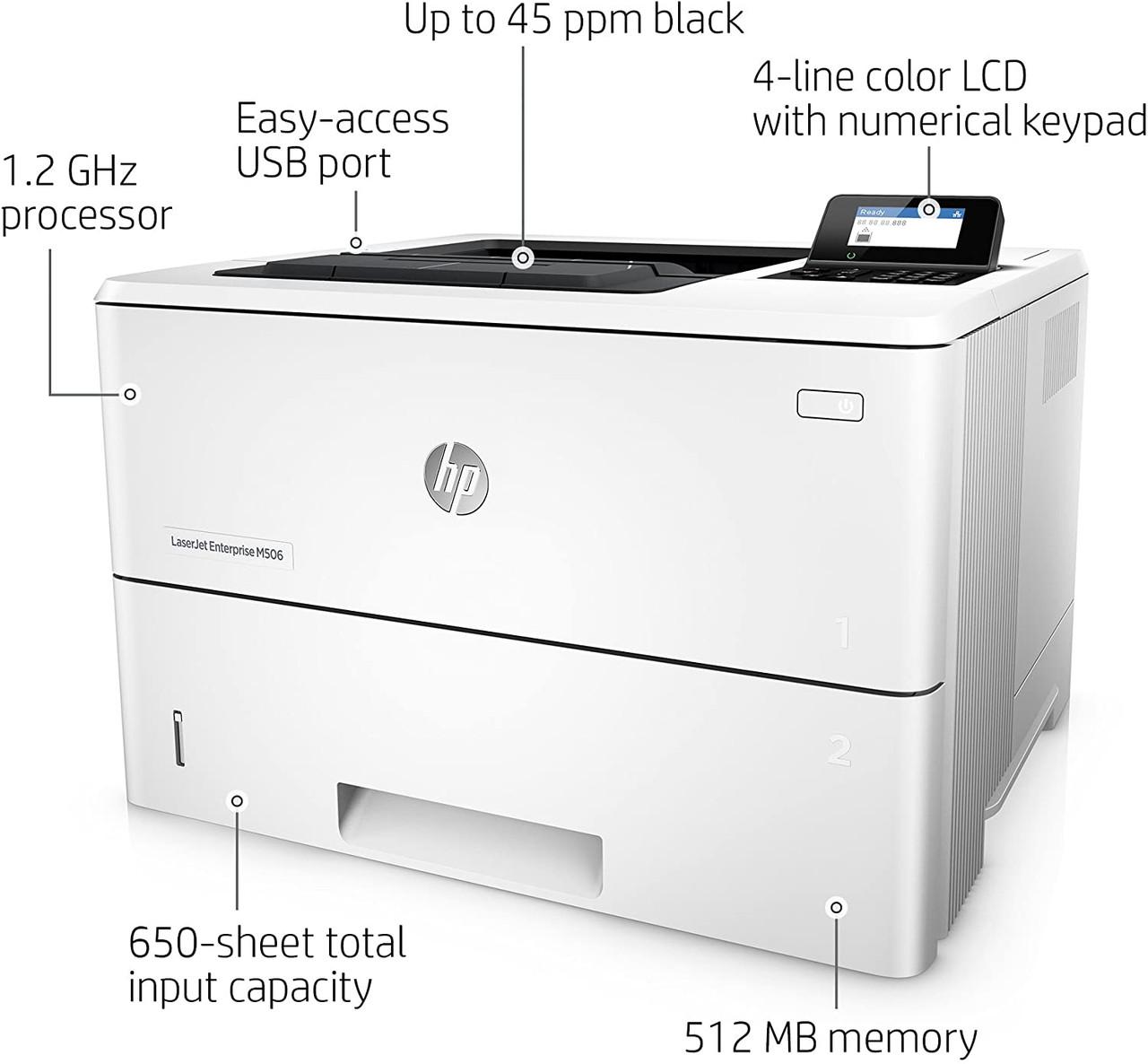 HP LaserJet Enterprise M507dn Mono Laser Printer features
