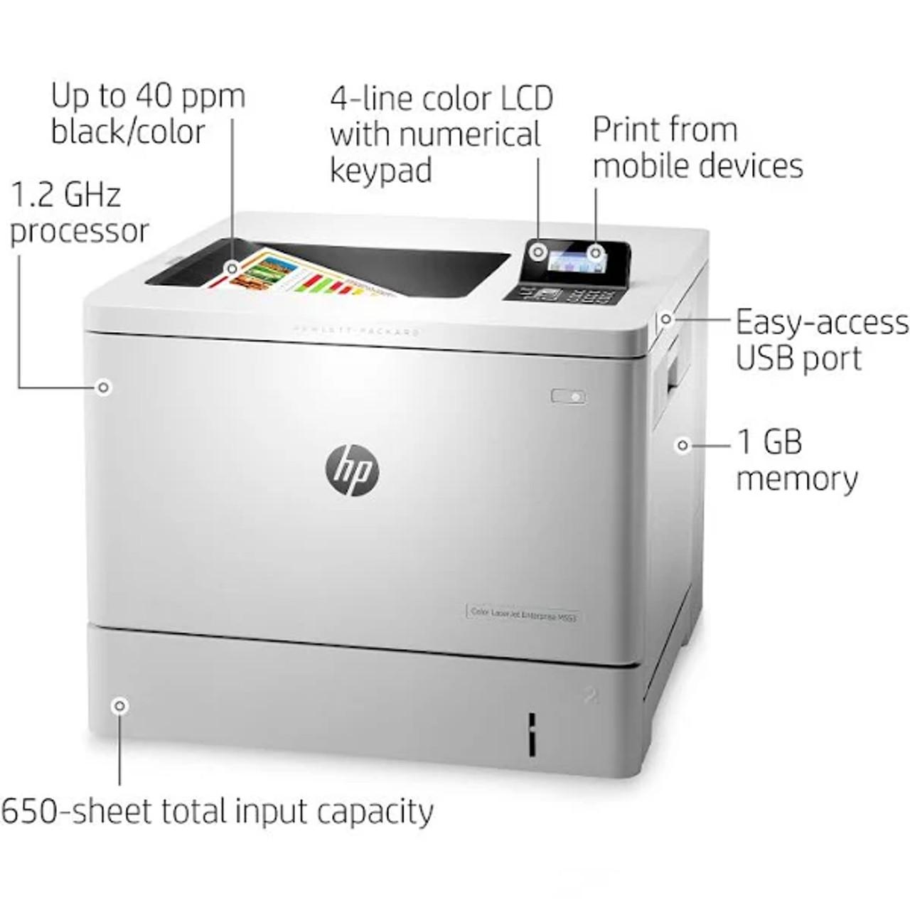 HP Color LaserJet Enterprise M553n Laser Printer Features