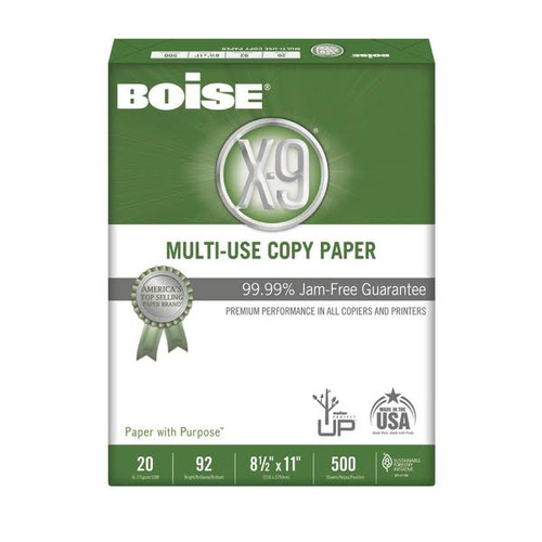 Boise® X-9® Multi-Use Copy Paper, Letter Size, 20 Lb, Bright White, One Ream of 500 sheets