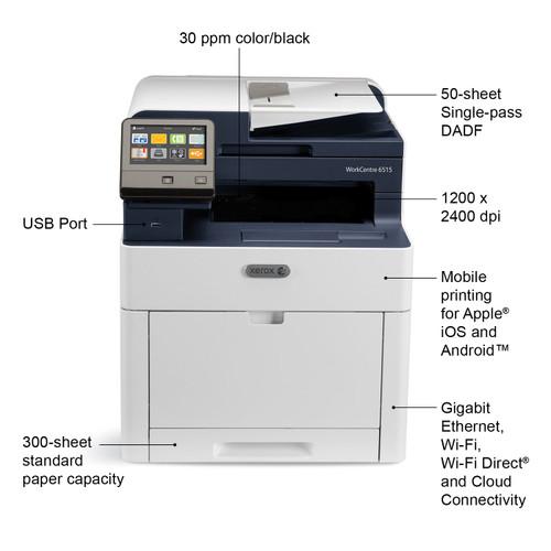 Xerox 6510/DNI Phaser Laser Printer - Color Xerox 6516/DNI MFP - Color