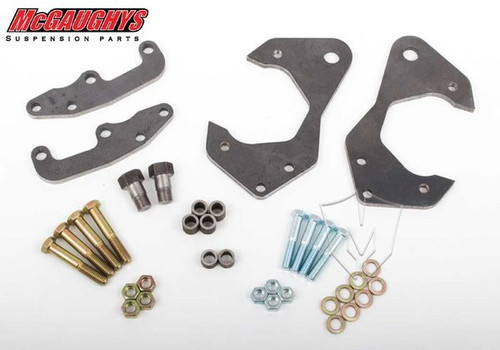 Chevrolet Fullsize Car 1965-1968 Front Disc Brake Conversion Brackets; Stock Spindles - McGaughys Part# 63228