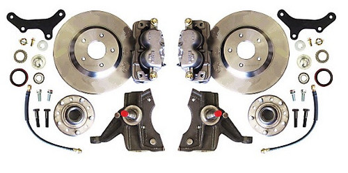 "GMC C-10 1971-1972 13"" Front Disc Brake Kit & 2.5"" Drop Spindles; 6x5.5 Bolt Pattern - McGaughys Part# 63312"