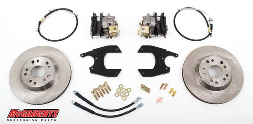 "GM Fullsize Car 10 or 12 Bolt Rear End - 13"" Rear Disc Brake Kit; 5x4.75 Bolt Pattern - McGaughys Part# 64098"