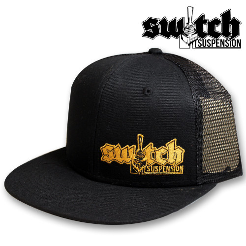Switch Suspension Black W/ Gold Snap Back Trucker Hat