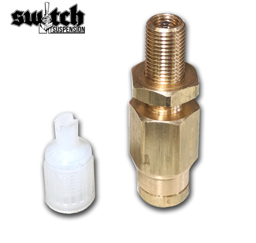 Push To Connect In Line Inflation Schrader Valve