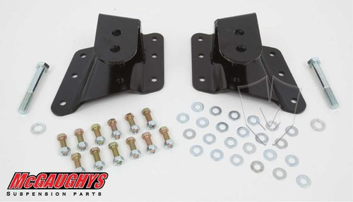 "GMC Sierra 1500/2500HD (6 Hole Hanger) 2002-2010 Rear 1""-2"" Drop Hangers - McGaughys Part# 33087"