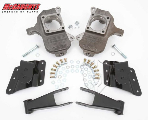 Chevrolet Silverado 1500HD 6 Hole Hanger 2002-2010 2/4 Deluxe Drop Kit - McGaughys Part# 33082