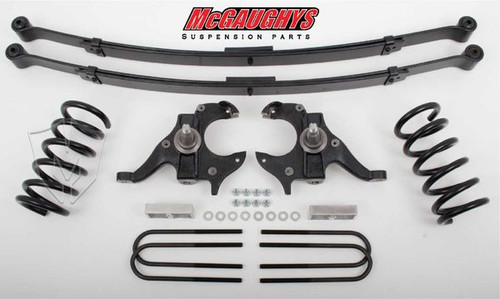 Chevrolet S-10 Standard Cab 1982-2003 4/6 Deluxe Drop Kit W/Leaf Springs - McGaughys Part# 93118
