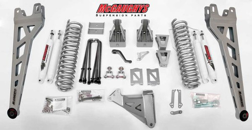 """Ford F350 4wd 2005-2007 8"""" Lift Kit W/Shocks Phase II - McGaughys Part# 57337"""