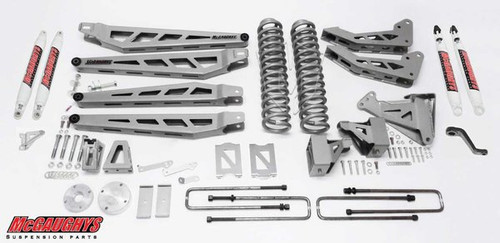 """Ford F350 4wd 2005-2007 8"""" Lift Kit W/Shocks Phase III - McGaughys Part# 57338"""