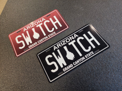 Switch Suspension AZ License Plate