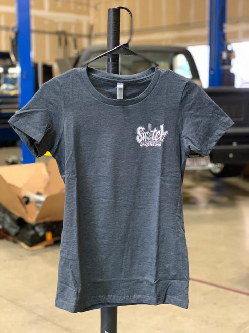 """Ladies """"Graffiti Van"""" T-Shirt (Dark Gray/White)"""