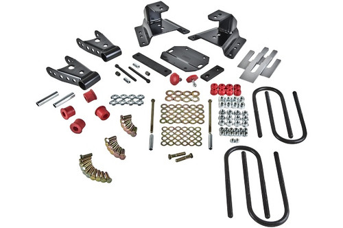 """Ford F-350 1987-1994 Std & Crew Cabs Belltech 4"""" Rear Shackle and Hanger Kit"""