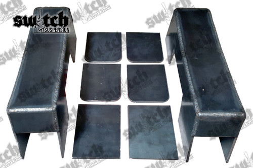 "Chevrolet Silverado / GMC Sierra 1500 1988-1998 4"" Under Bed Frame C-Notch"