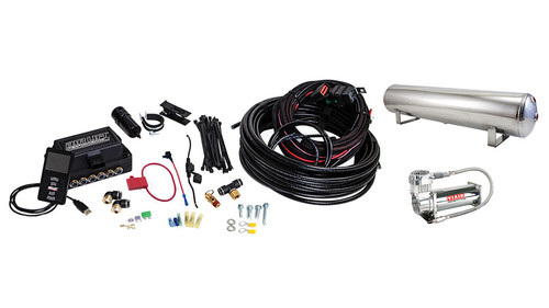 AIR LIFT 3P AIR MANAGEMENT (1/4″ AIR LINE, 4 GALLON 5-PORT POLISHED TANK, VIAIR 444C COMPRESSOR)