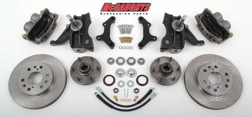 "Chevrolet C-10 1973-1987 13"" Front Disc Brake Kit W/Drop Spindles; 6x5.5 Bolt Pattern  - McGaughys Part# 33300"