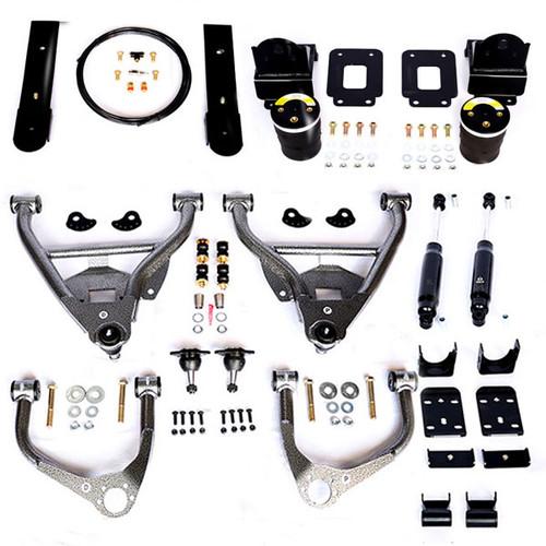 Chevrolet Silverado 1500 2019-2021 IHC Suspension 3/5 Lowering Kit W/ Helper Bags