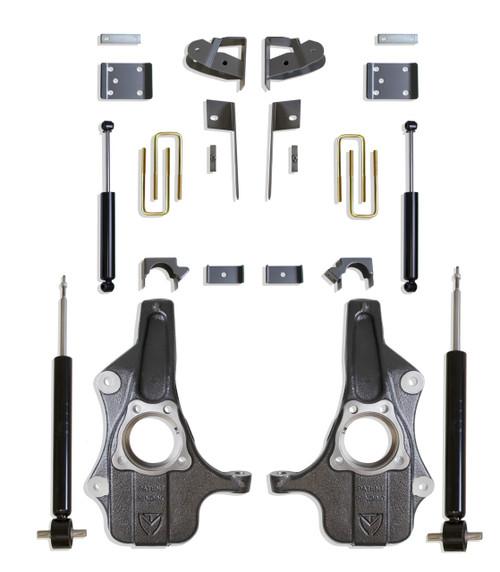 Chevrolet Silverado 1500 2019-2021 Maxtrac Deluxe 3/5 Lowering Kit