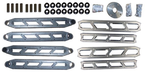 """Dodge Ram 2500 4wd 2014-2018 Rear Boxed 4-link Upgrade w/ Billet Face Plates fits 8"""" & 10"""" Lift Kits"""