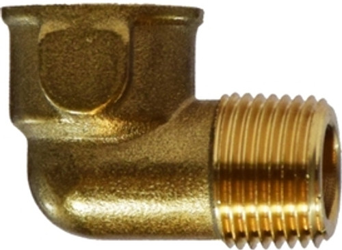 """Forged Brass 1/4"""" Female NPT to 1/4"""" Male NPT Street Elbow"""