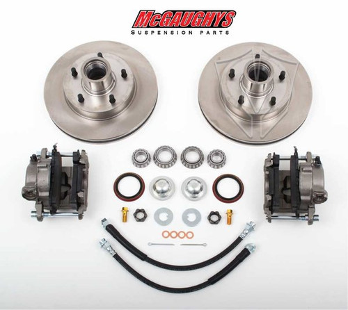 "Chevrolet Fullsize Car 1955-1970 Front Disc Brake Kit For Drop Spindles; 5x4.75"" Bolt Pattern - McGaughys Part# 63205"