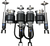 Infiniti G35 Coupe RWD 2003-2007 Solution Series Complete Air Suspension Kit