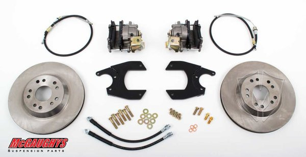 "GM Fullsize Car 10 or 12 Bolt Rear End - 13"" Rear Disc Brake Kit; 5x5 Bolt Pattern - McGaughys Part# 64100"