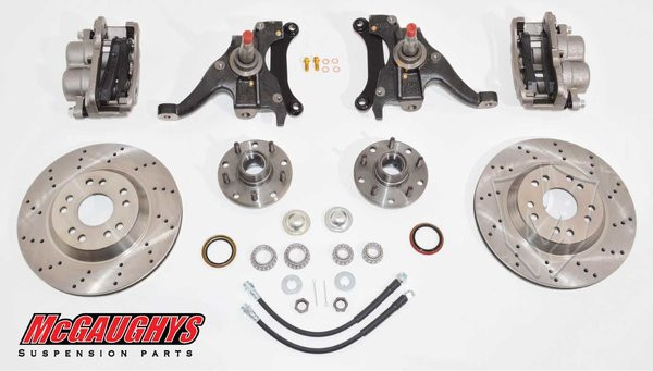 "GMC S-15 Sonoma 1982-2003 13"" Front Cross Drilled Disc Brake Kit; 5x4.75 Bolt Pattern - McGaughys Part# 93125"