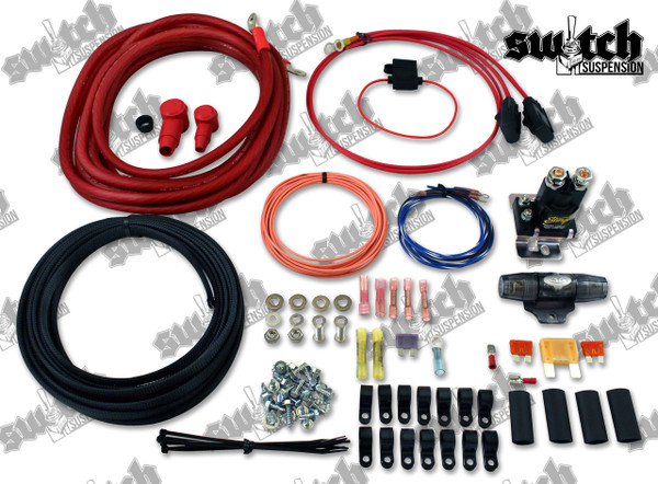 Dual Compressor Wiring Kit; 4 AWG