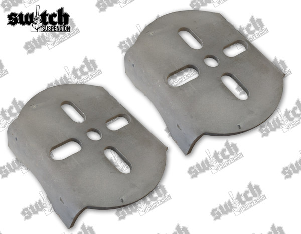 Weld On Above Axle Lower Bag Brackets; Pair