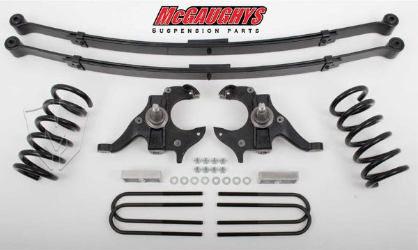 Chevrolet S-10 Extended Cab 1982-2003 4/6 Deluxe Drop Kit W/Leaf Springs - McGaughys Part# 93119
