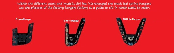 Chevrolet Silverado 2500HD 8 Hole Hanger 2002-2010 2/4 Economy Drop Kit - McGaughys Part# 33080