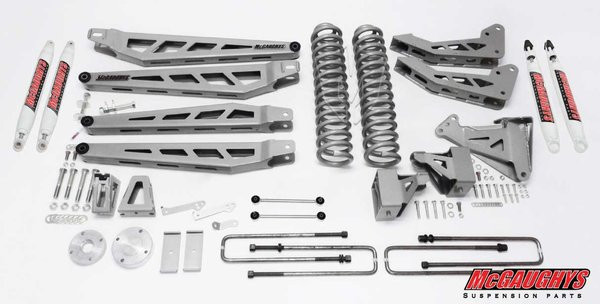 """Ford F250 4wd 2008-2010 8"""" Lift Kit W/Shocks Phase III - McGaughys Part# 57248"""